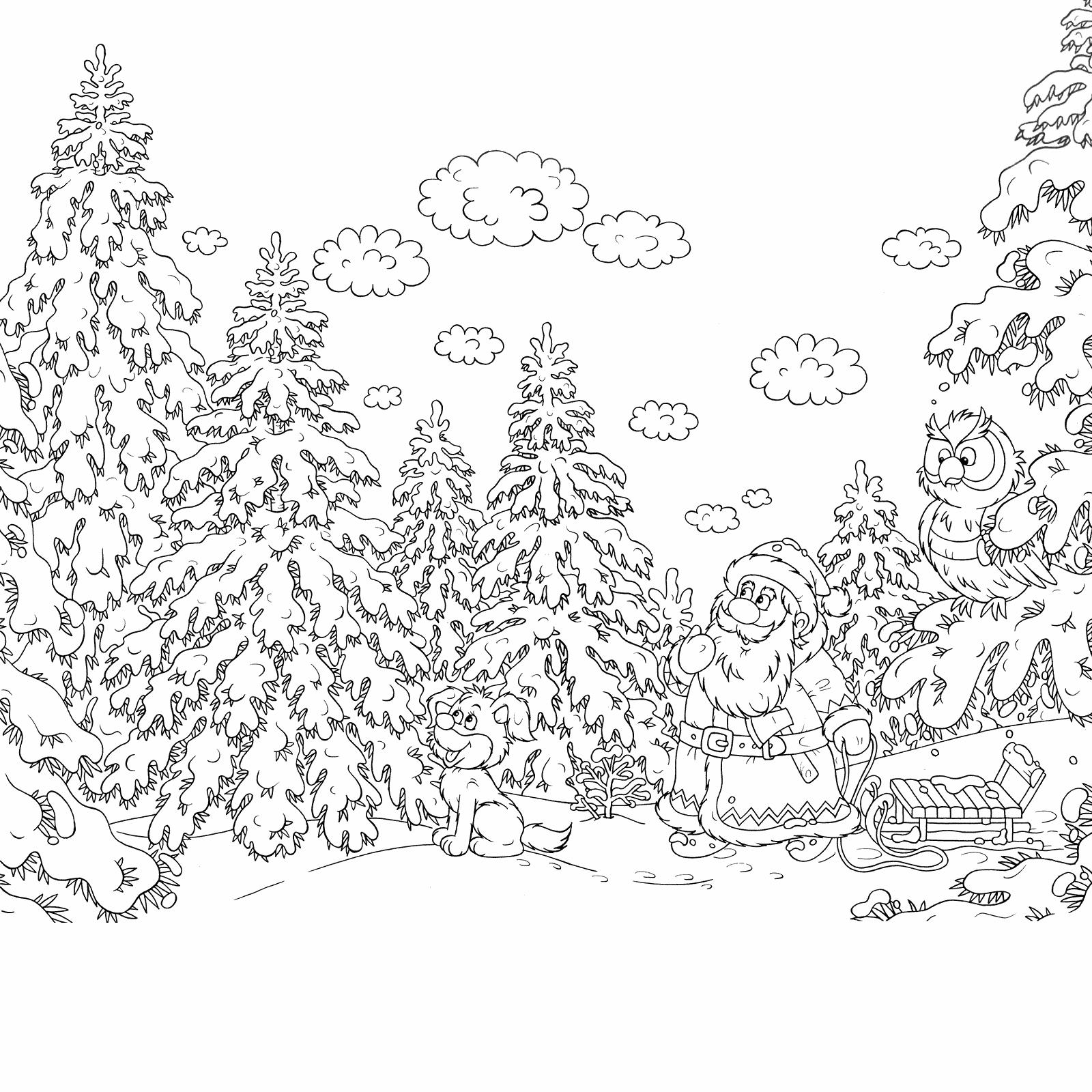 охлажденную шаблоны к новому году зимний сказочный лес бывают вогнутыми