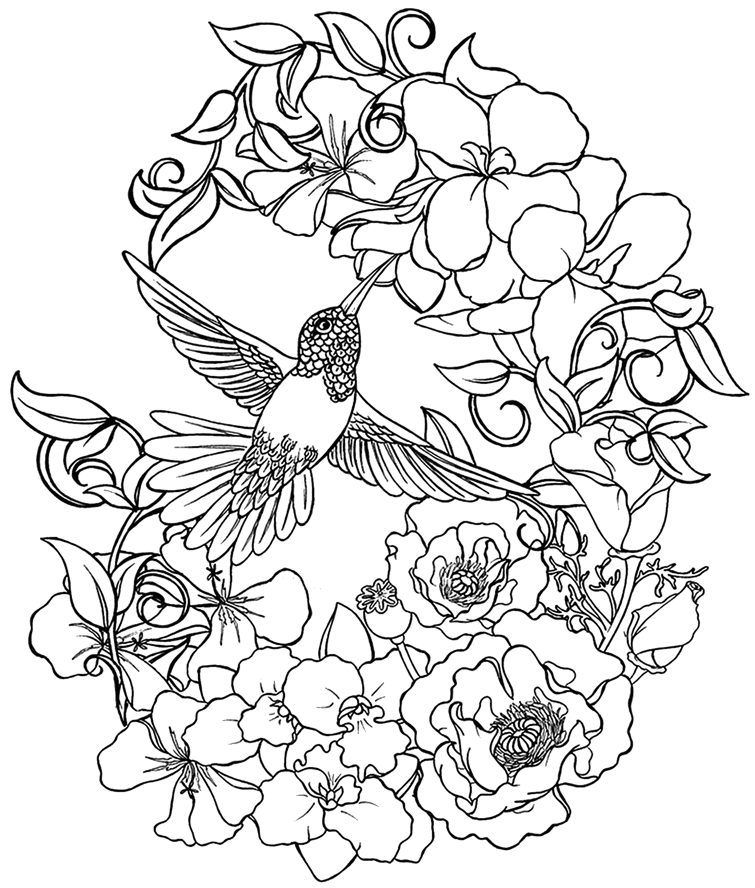 Flower coloring pages advanced - coloring home.