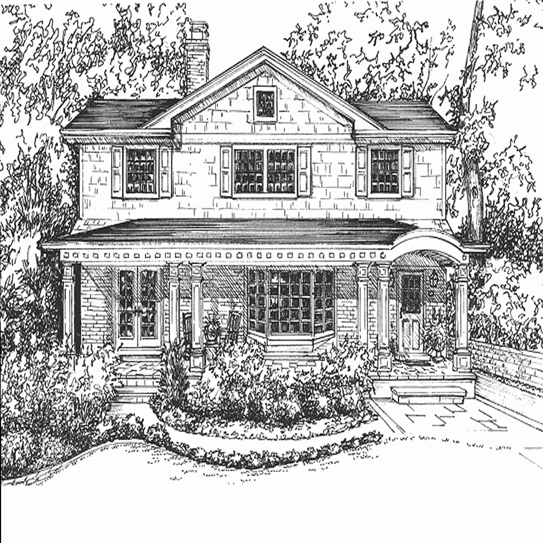 поздравления одноэтажный дом рисунок карандашом одном